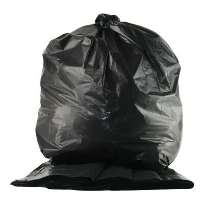 160 Gauge Black Bin Bags Sacks, Pack Of 200