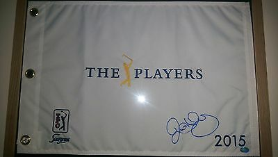 rory mcilroy signed pin flag