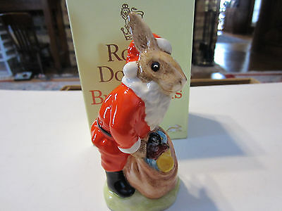 "Royal Doulton Db 17 Santa Bunny Bunnykins ""happy Christmas"" New In Box"