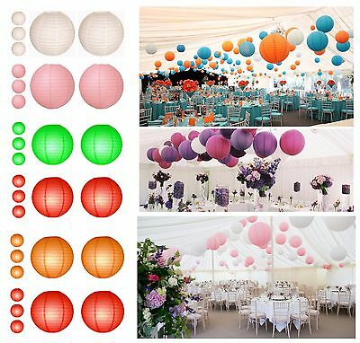 10 x Chinese Paper Lanterns Lamp Wedding Party Decoration 2 Colors Assorted