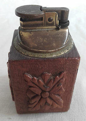 Vintage Wooden based table lighter