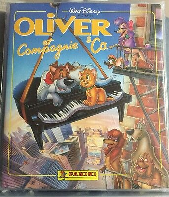 WALT DISNEY OLIVER & COMPANY 1988 STICKER ALBUM Plus Loose Set Panini