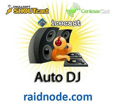 SHOUTCAST HOSTING WITH Auto DJ Unlimited BW 500MBPS Centovacast 100  listeners