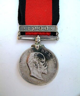 Anglo Zulu War Natal Rebellion Medal 1906 Clasp Full Size Bambatha Uprising