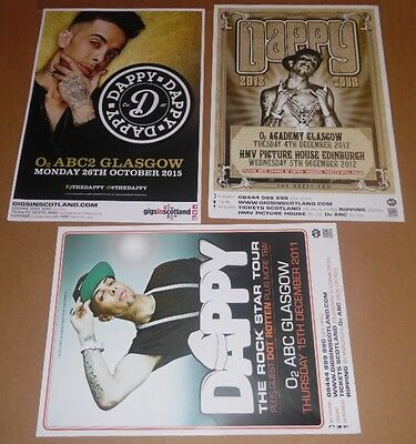 DAPPY posters - collection of 3 tour concert / gig poster N-Dubz