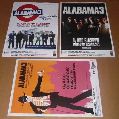 ALABAMA 3 posters - collection of 3 tour concert / gig poster