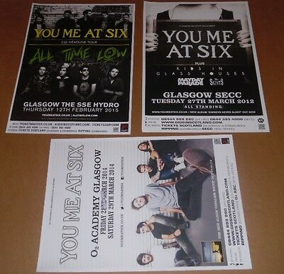 You Me At Six posters - collection of 3 tour concert / gig poster