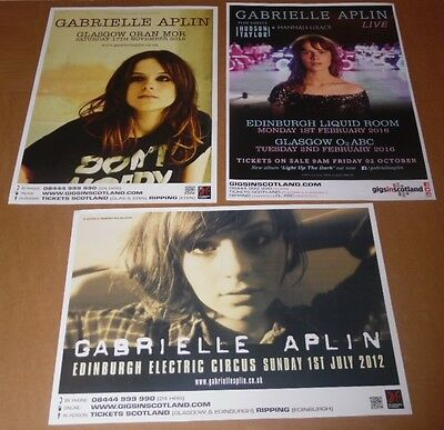 Gabrielle Aplin posters - collection of 3 tour concert / gig poster