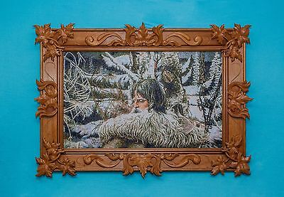 Rare big embroidered picture high state of the art Northern Eagle reproduction