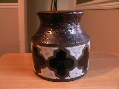 A Bitossi Brown Black And White Vase