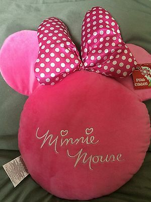 Disney Minnie Mouse Plush Stuffed Cushion Pink Disney New With Tags