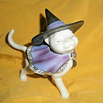 Lenox Moonlight Minx Cat Halloween masquerade Sassy Witch hat and cape VGC