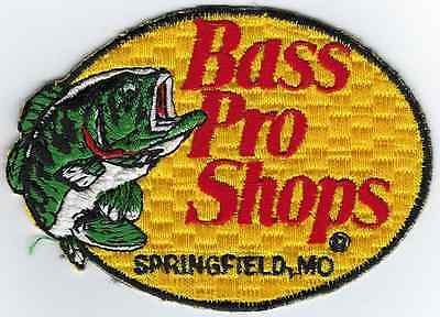 Bass Pro Fishing Patch 3-3/4 Inches Long Size New Iron-on