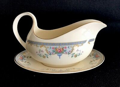 Royal Doulton Juliet Romance Collection Gravy Boat With Underplate Bone China