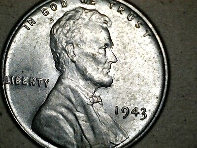 1943 steel LC lincoln wheat cent NICE SHAPE! L1016