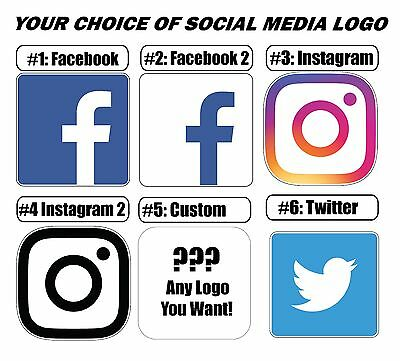 Social Media Logos Vinyl Sticker (bumper,window, wall, phone, laptop, PS4)