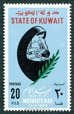 KUWAIT 1963 20f multicoloured SG181 mint MH FG Mothers' Day #W9