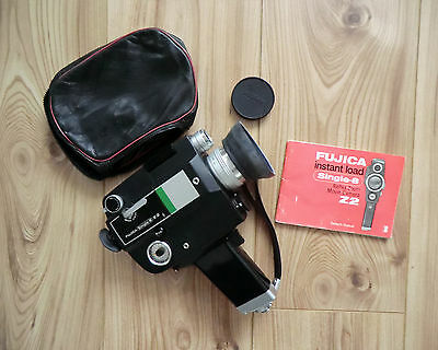 Fujica Z2 Instant Load Single-8 Reflex Zoom Movie Camera with Owner´s Manual