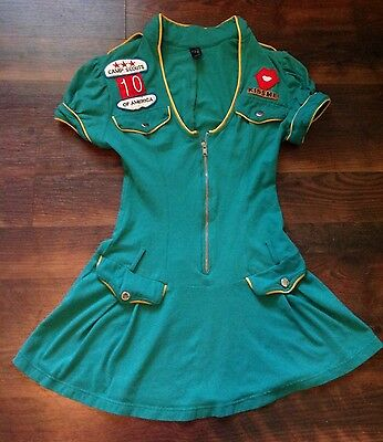 Girl Scout Costume Camp Girl Dress Adult Women's Size Small