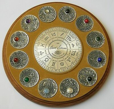 Twelve Signs Of The Zodiac Cased 1 Kilo Silver Medal Collection With Gemstones