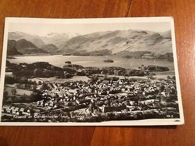 vintage chadwick postcard of Keswick on Derwentwater from Latrigg