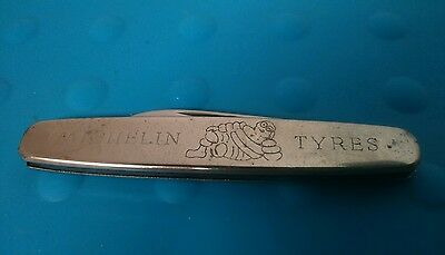 MICHELIN  MAN TYRES STAINLESS STEEL POCKET KNIFE Collectors Piece