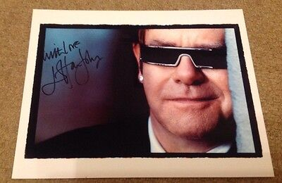 ELTON JOHN  - AMAZING   - SIGNED COL PHOTO  - 10 x 8 Inches   -  AUTHENTIC
