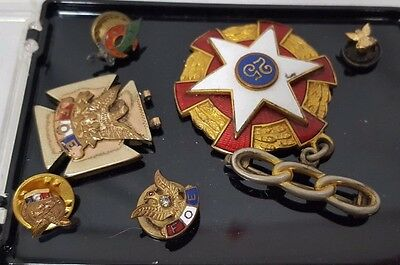 Lot of 6 F.O.E Pins, 25 Year Fraternal Order of The Eagles and Odd Fellows