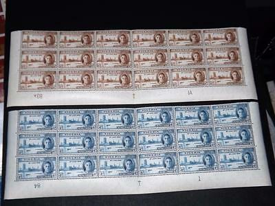 NIGERIA-1946 VICTORY SET-BOTTOM SHEET BLOCKS OF 18+PLATE Nos-UNM MINT-MNH