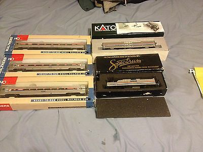 lot of 5 electric train cars 3 walthers ho scale 2 Engines Amtrax New In Boxes