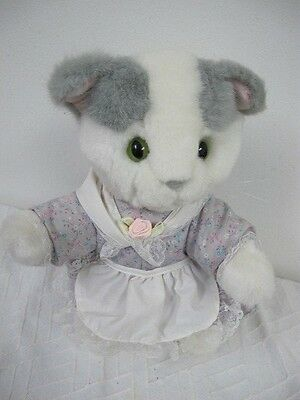 Eden Tabitha Twitchit Cat Beatrix Potter Plush White With Dress