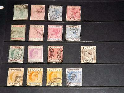 Cyprus-Nice Lot Of Qv To Gv Stamps-Good Catalogue Value