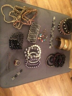 Selection Of Costume Jewellery. Job Lot. Bracelets. Top Shop And More