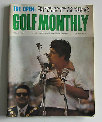 Vintage Golf Monthly magazine August 1971 Collectible