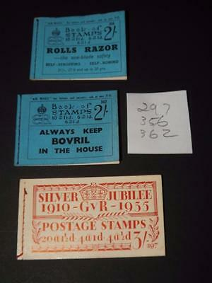 GB-EDWARD 8th / GV-BOOKLETS-EMPTY BUT COMPLETE-297-356-362-VERY SCARCE ITEMS
