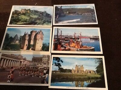 6 colourmaster  scottish postcards