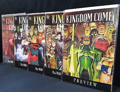 Kingdom Come #1-4 Plus Preview COMPLETE SERIES SET! 1st Printings 1996 Alex Ross