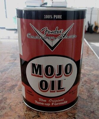 FENDER MOJO OIL TIN CAN $10 GIFT FOR GUITAR or BASS PLAYERS