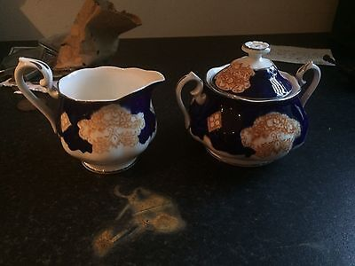 Royal Albert Sugar Bowl & Cream Jug Heirloom Pattern 1945