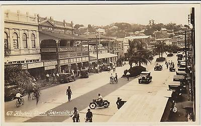 Hinders St Townsville Queensland Murray  Real Photograph Postcard C1920/30