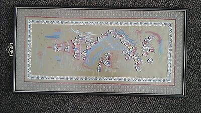 """Chinese Silk Embroidery 13"""" /33cm x26""""/65cms/Perfect Condition"""
