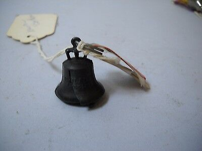 ANTIQUE Boutenneire Liberty Bell  on RIBBON RELIC OF Spanish American WAR Ribbon