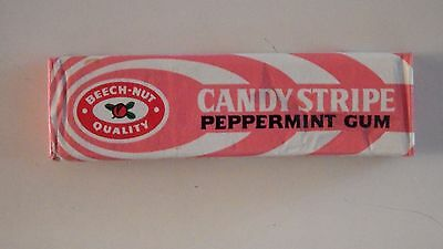 Vintage BeechNut Candy Stripe Chewing Gum Full Unopened 5 Stick Pack Wrapper NOS