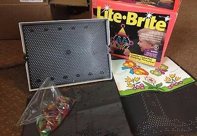 Vintage Hasbro Working Lite Brite in Box with Pegs and sheets 1994