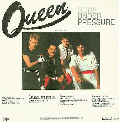 Queen Done Under Pressure Live Germany 1986 ORIGINAL-DOUBLE VINYL-LP Leopard ‎–