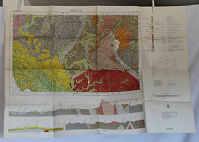 1972 Geological Survey of Victoria Map - Ringwood -Big  28 x 39 inches