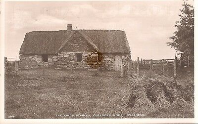 Old Real Photo Postcard - The Kings Stables - Culloden Moor - Inverness C.1945