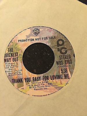 Northern Modern 70's Soul Quickest Way Out-Thank You Baby - Warner Bros PROMO