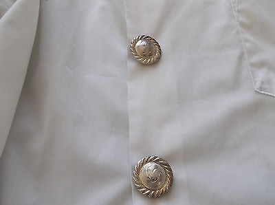 Western Shirt / Blouse - Silver Concho Button Covers
