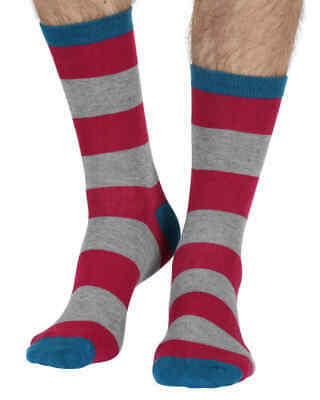 Fat Harry men's super-soft bamboo crew socks in ruby | Exclusive by Braintree